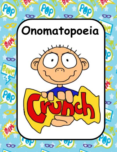 Review Onomatopoeia With Your Students Using Posters With Examples