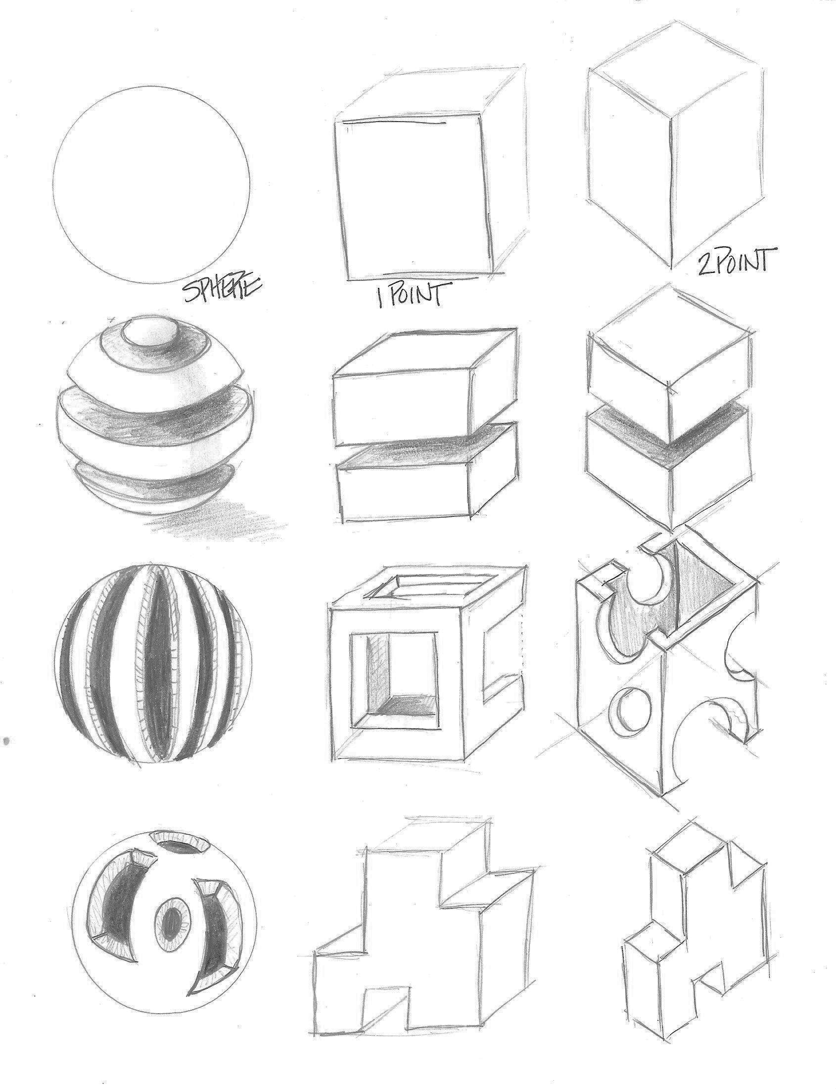 Sliced and Diced Form Drawing | 9-12 ideas | Form drawing