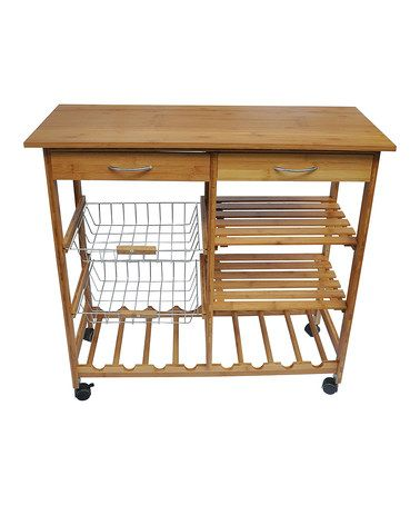 Another great find on #zulily! Large Bamboo Kitchen Cart ...