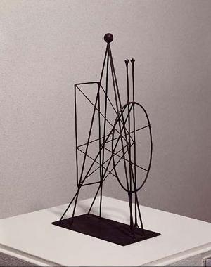 Pablo Picasso Projet De Monument A Apollinaire Figure Project For A Monument To Apollinaire 1928 Sheet Metal And W Wire Sculpture Sculpture Fantastic Art