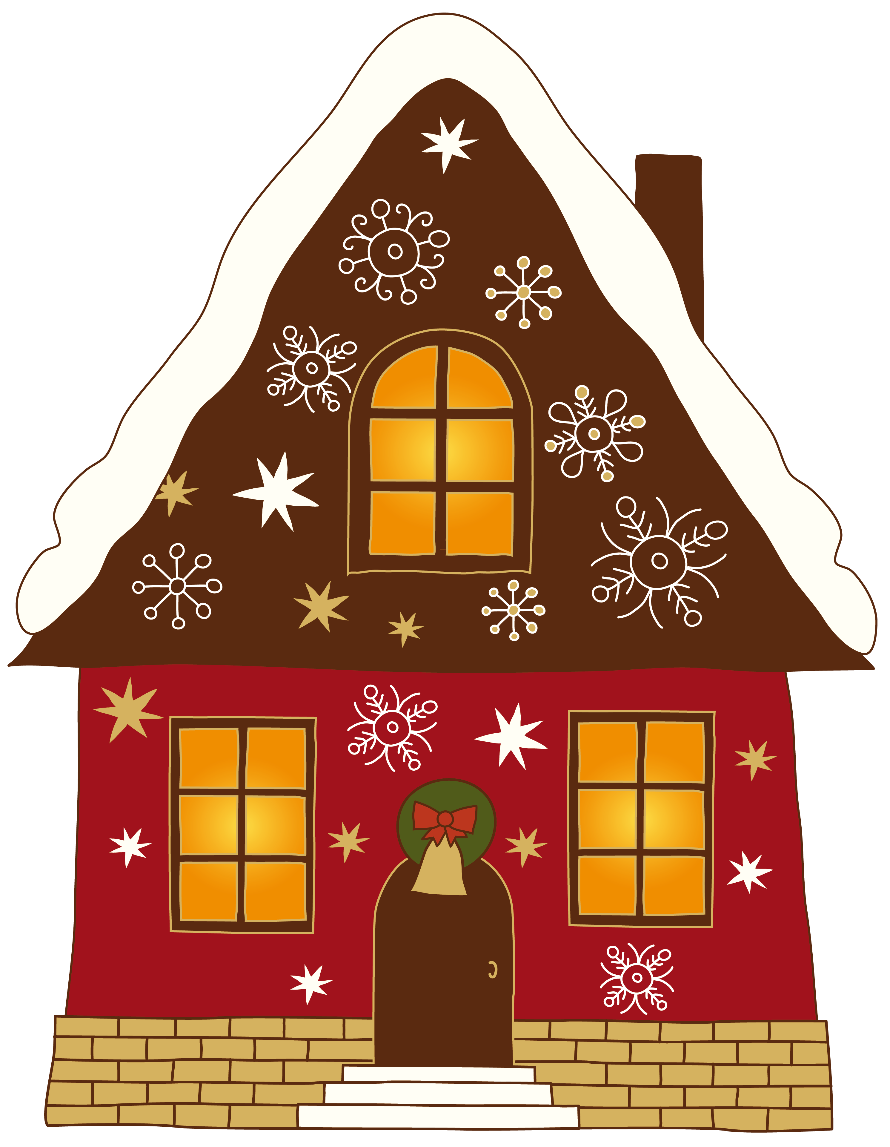 Christmas House Clipart CUTE HOUSE'S & BUILDING