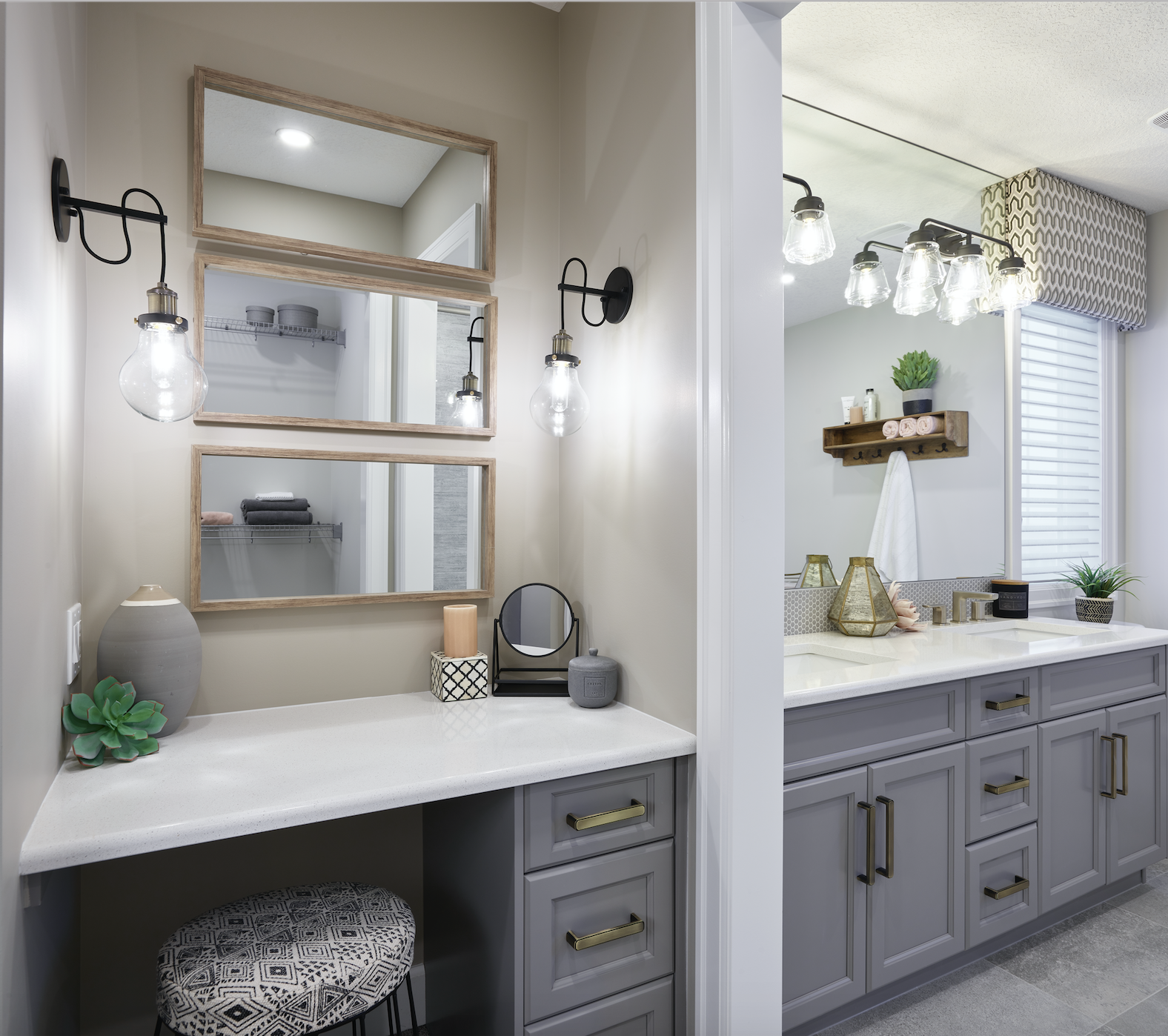 Design your bathroom with a separate vanity area for