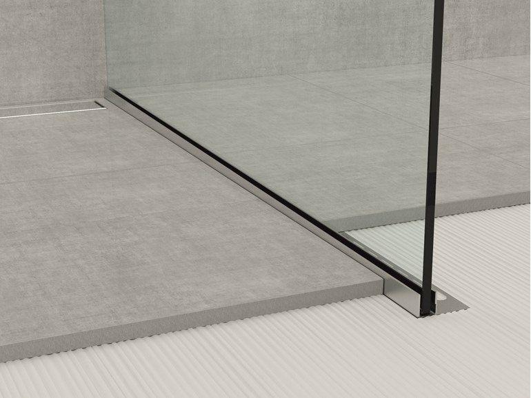 Bordo in acciaio inox per pavimenti GLASS PROFILE GPS1 by PROFILPAS