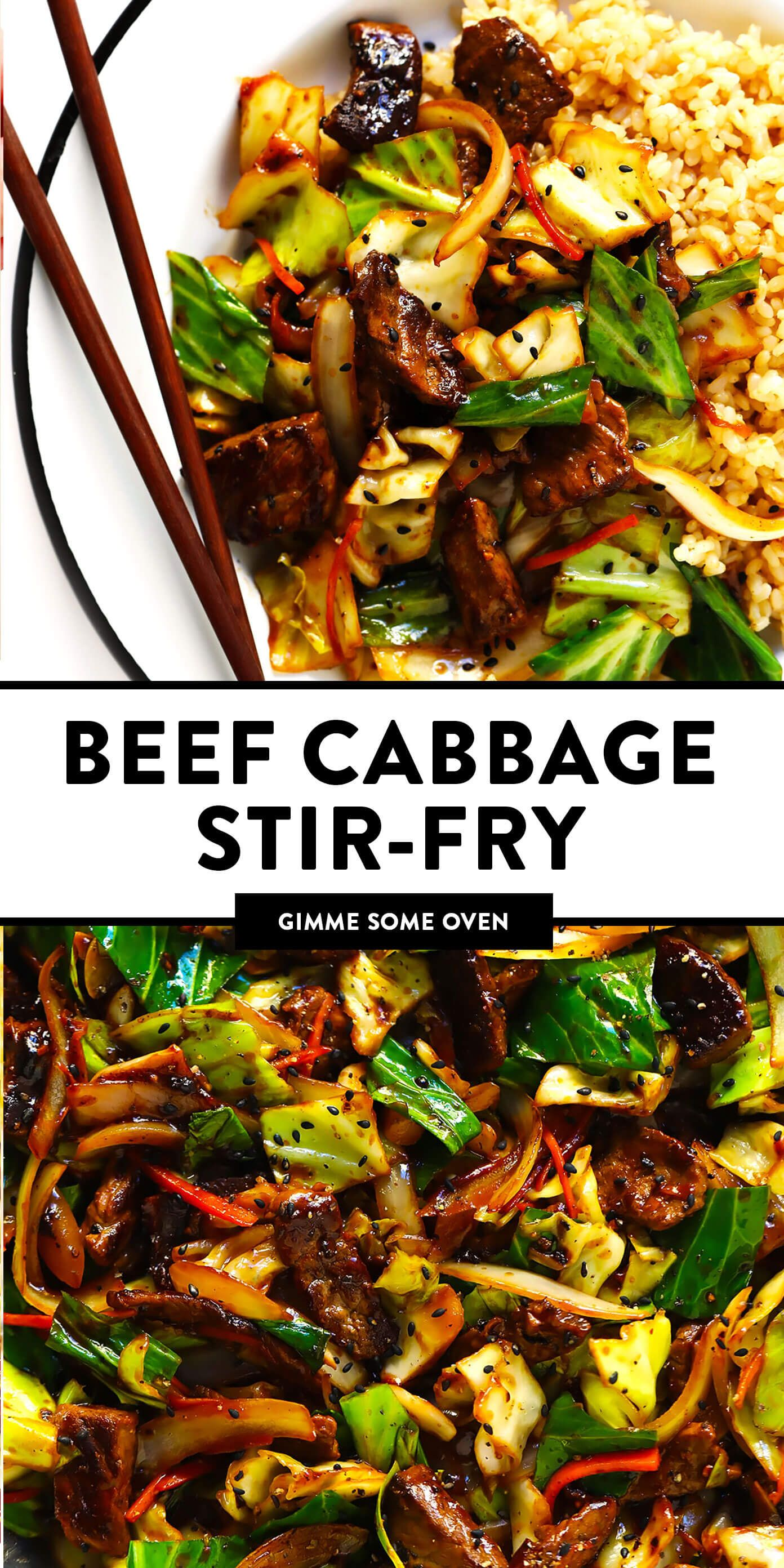 sesame beef and cabbage stirfry  recipe in 2020