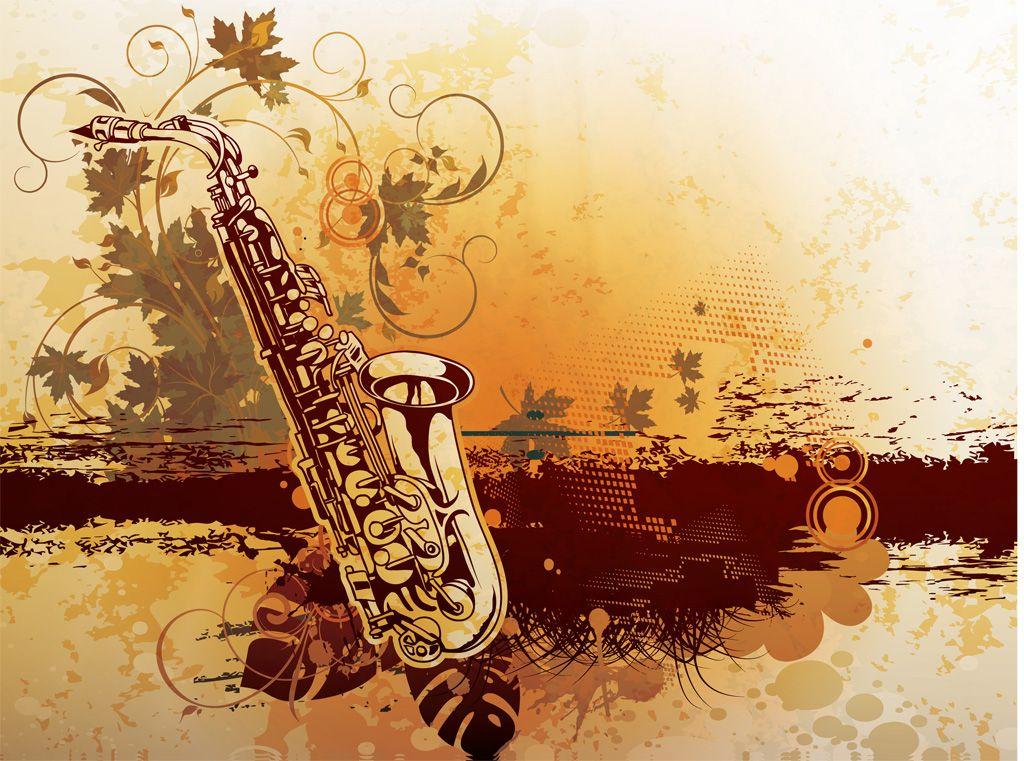 フリーイラスト素材 イラスト 音楽 楽器 サックス サクソフォーン