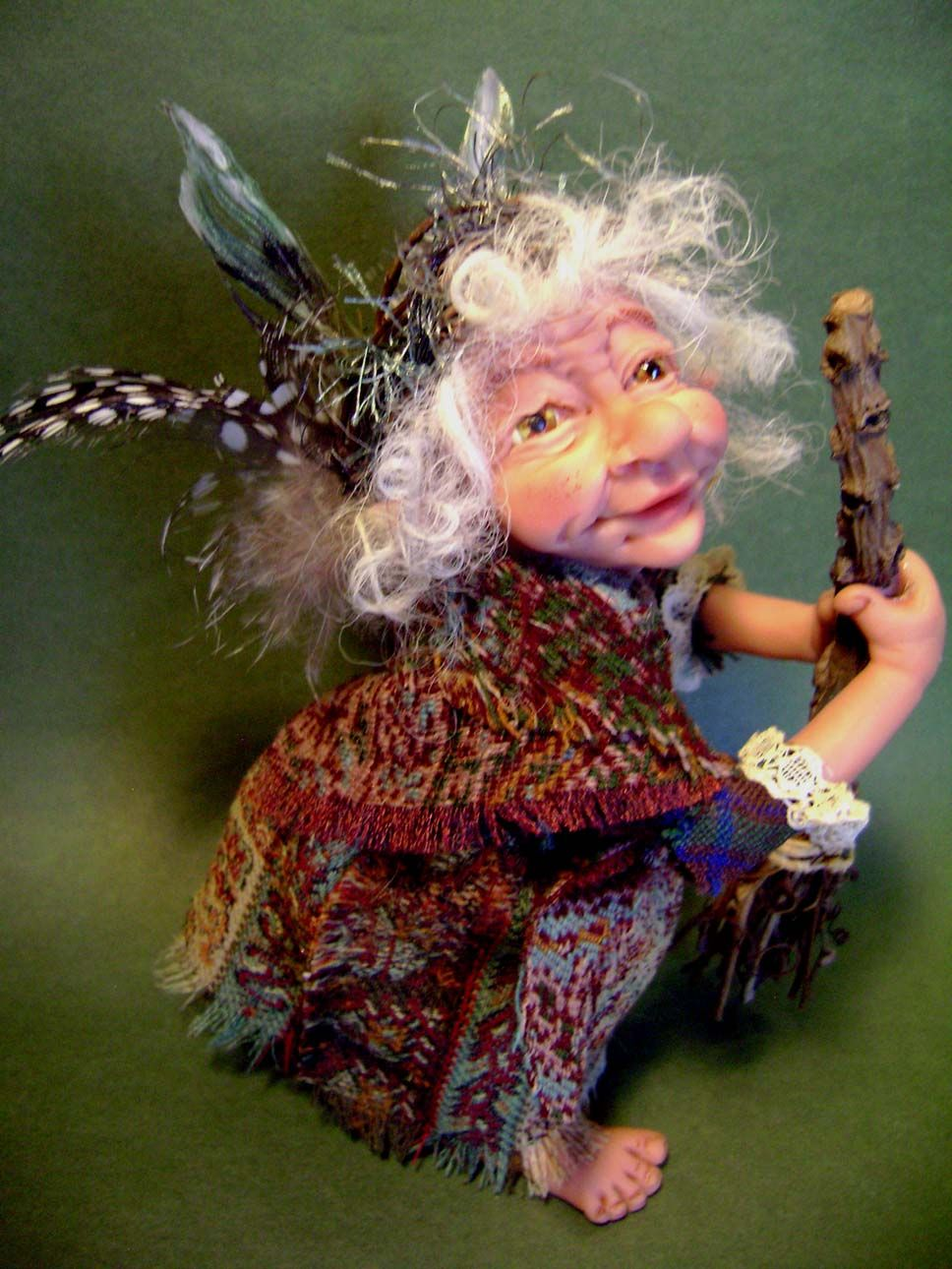 Old Irish House Fairy  by Tricia lancia poppenmoon