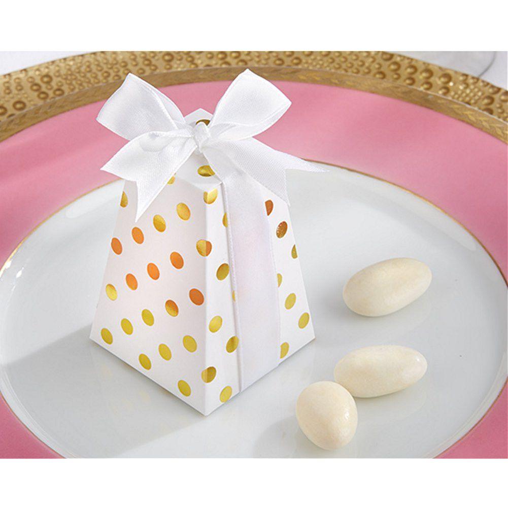 Confetti Gold Dot Favor Box   FAVOR ꙮ GIFT BOXES ꙮ BAGS ...