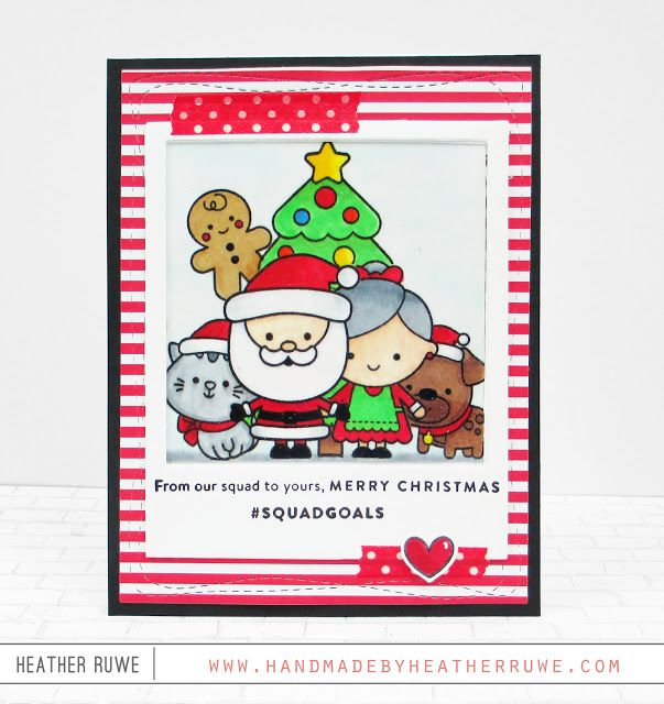 SSS December Card Kit Inspiration Week-Day 2 (Handmade by Heather Ruwe) #cardkit