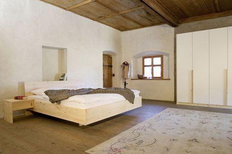 Zirbe Bett Kleiderschrank Massivholz Forcher Tirol - farbe für schlafzimmer