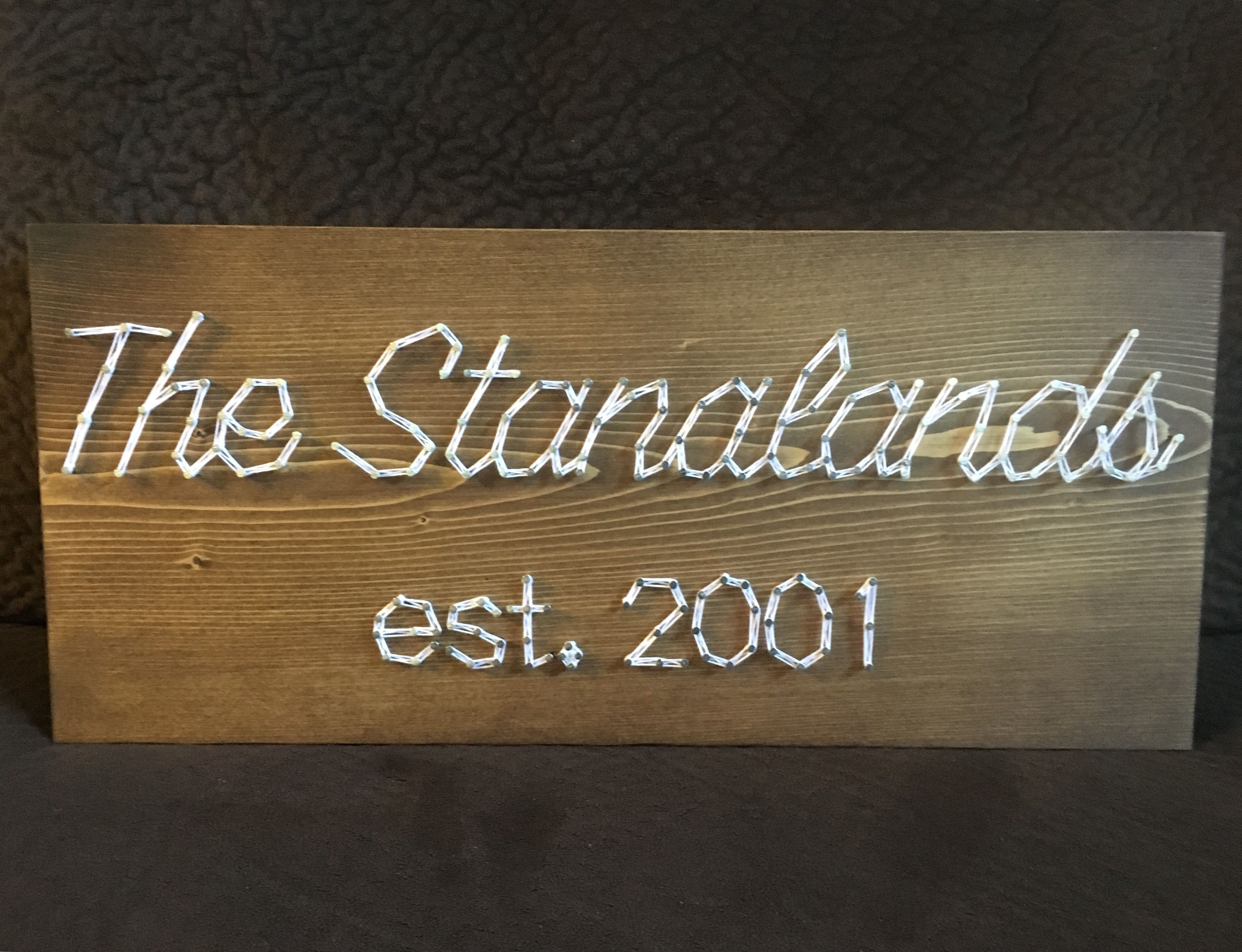 Custom wedding anniversary string art family name wedding date gift for fiance girlfriend boyfriend gift christmas present