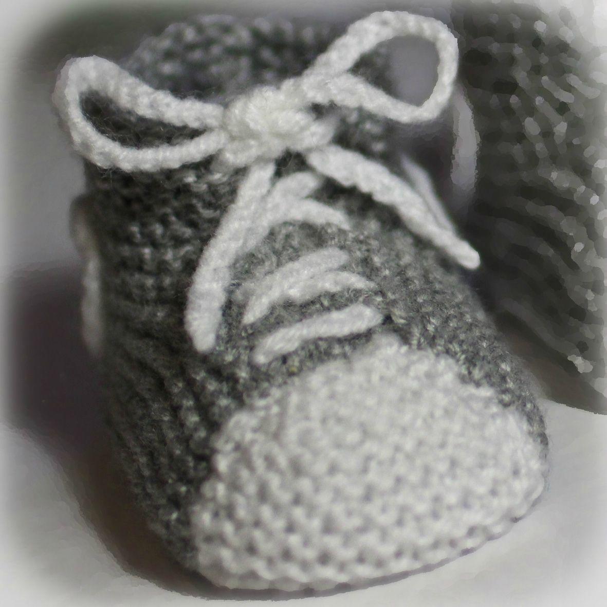 modele de chaussons au tricot gratuit
