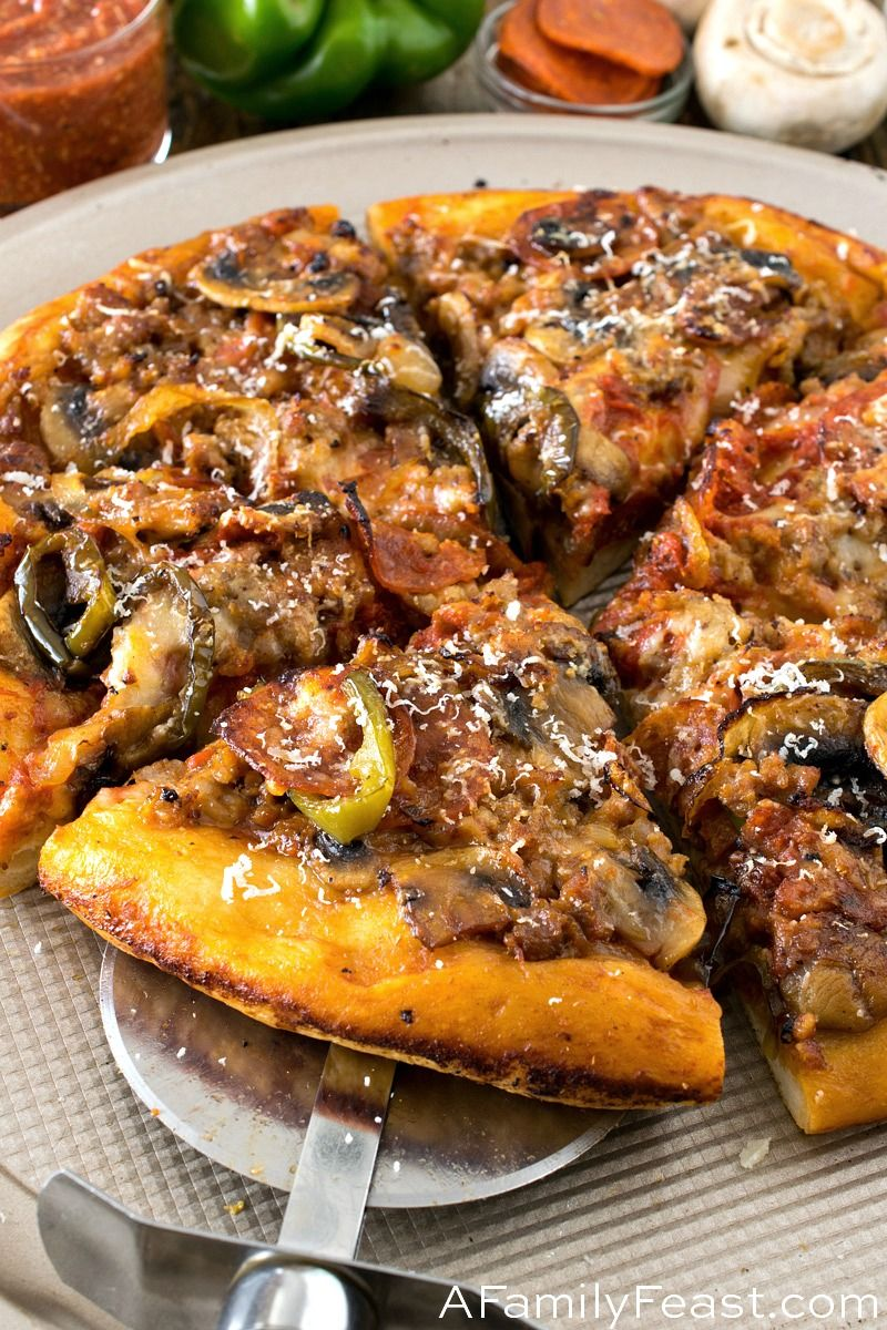 Upside Down Deep Dish Skillet Pizza Recipe Deep Dish Pizza Pan