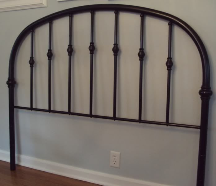 Goodwill Headboard Makeover Balancing Home Headboard Makeover Iron Headboard Bed Makeover
