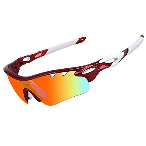 1794089788c Polarized Sports Sunglasses with 5 Interchangeable Lenses for Men Women Cycling  Baseball Running Fishing Driving Golf