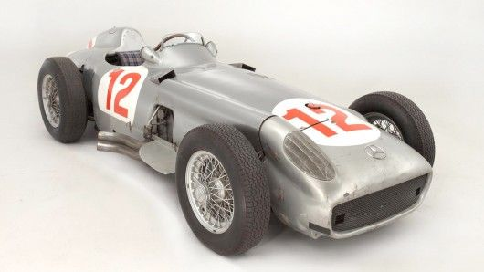 The world record for a car at auction was smashed this month when a 1954 Mercedes W196 F1 Silver Arrow sold for nearly US$30 million, doubling the previous record. This car won the 1954 German GP at Nürburgring driven by Fangio on debut, and is the only post-war Silver Arrow in private hands.
