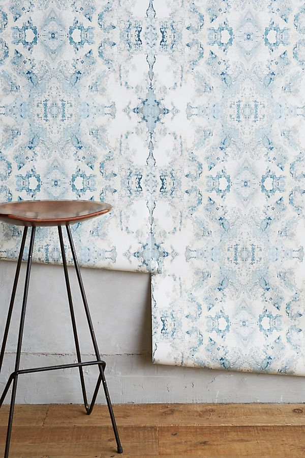 Edith Wallpaper Anthropologie Wallpaper living room