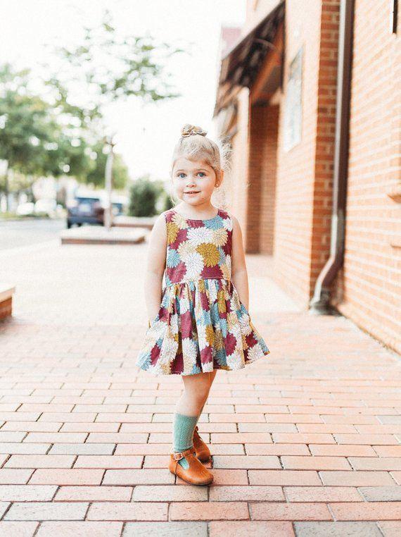 Fall Dress Little Girl Dress Toddler Dress Twirl Dress