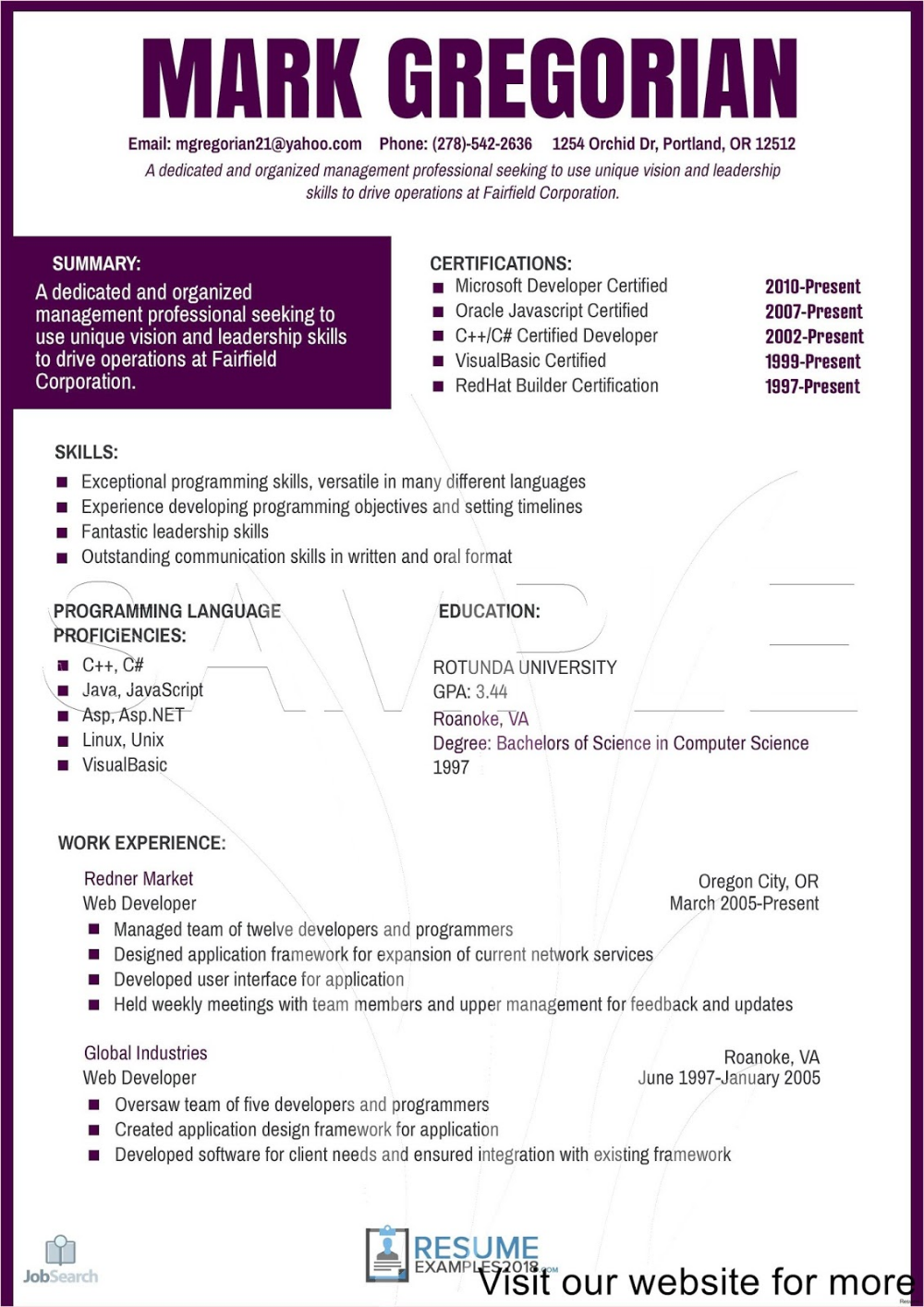 Sample Child Care Resume Objectives Australia 2020 Sample Child