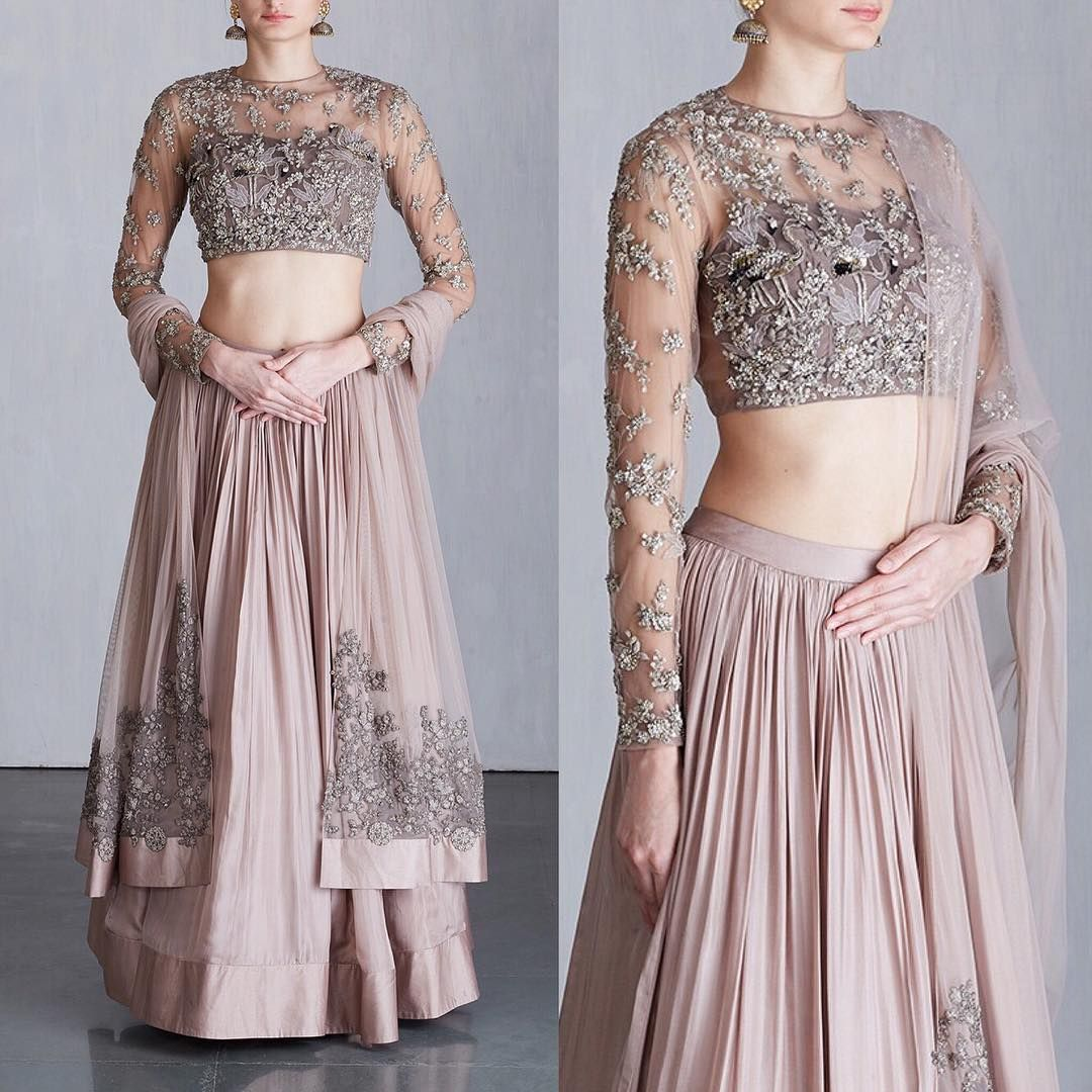 """9aac4c758d Ridhi Mehra on Instagram: """"Grey, embellished Flamingos lehenga MIRABELLA 