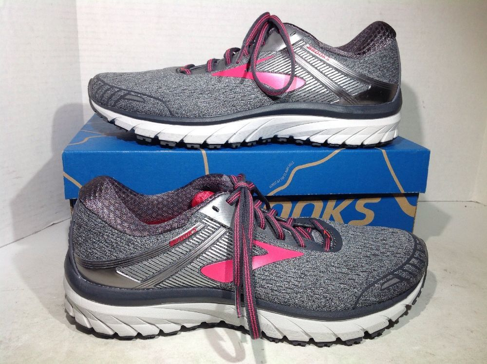 659ee5126c06 Brooks Women s Size 10 Adrenaline GTS 18 Gray Athletic Running Shoes ZX-125   fashion