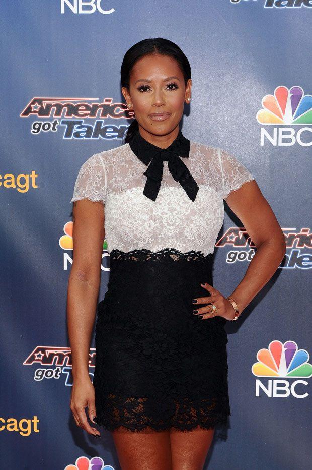 Mel b black lace dress on agt