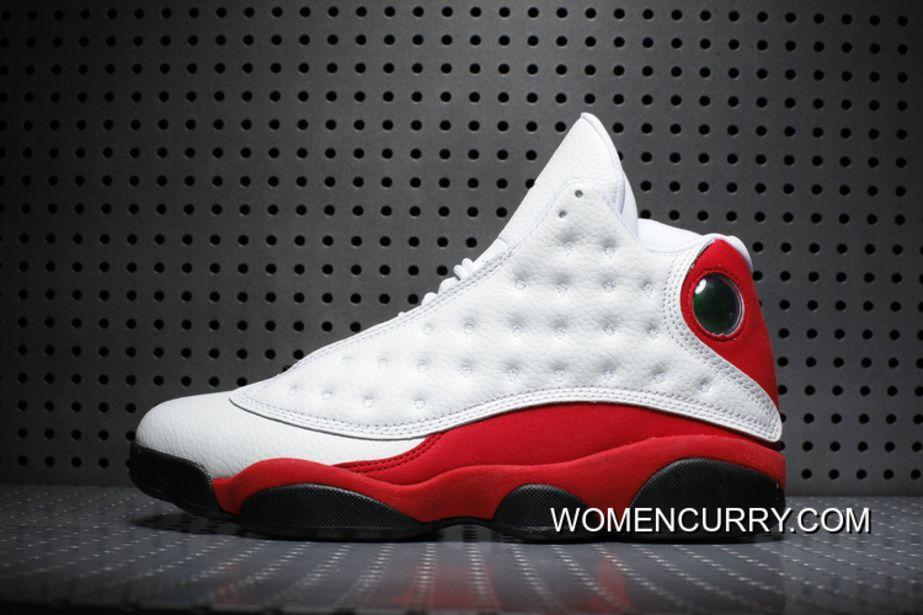 062357da54ff Cheap Air Jordan 13 OG White Black-Team Red Release