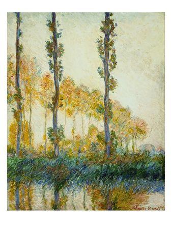 Three Trees, Autumn, Claude Monet