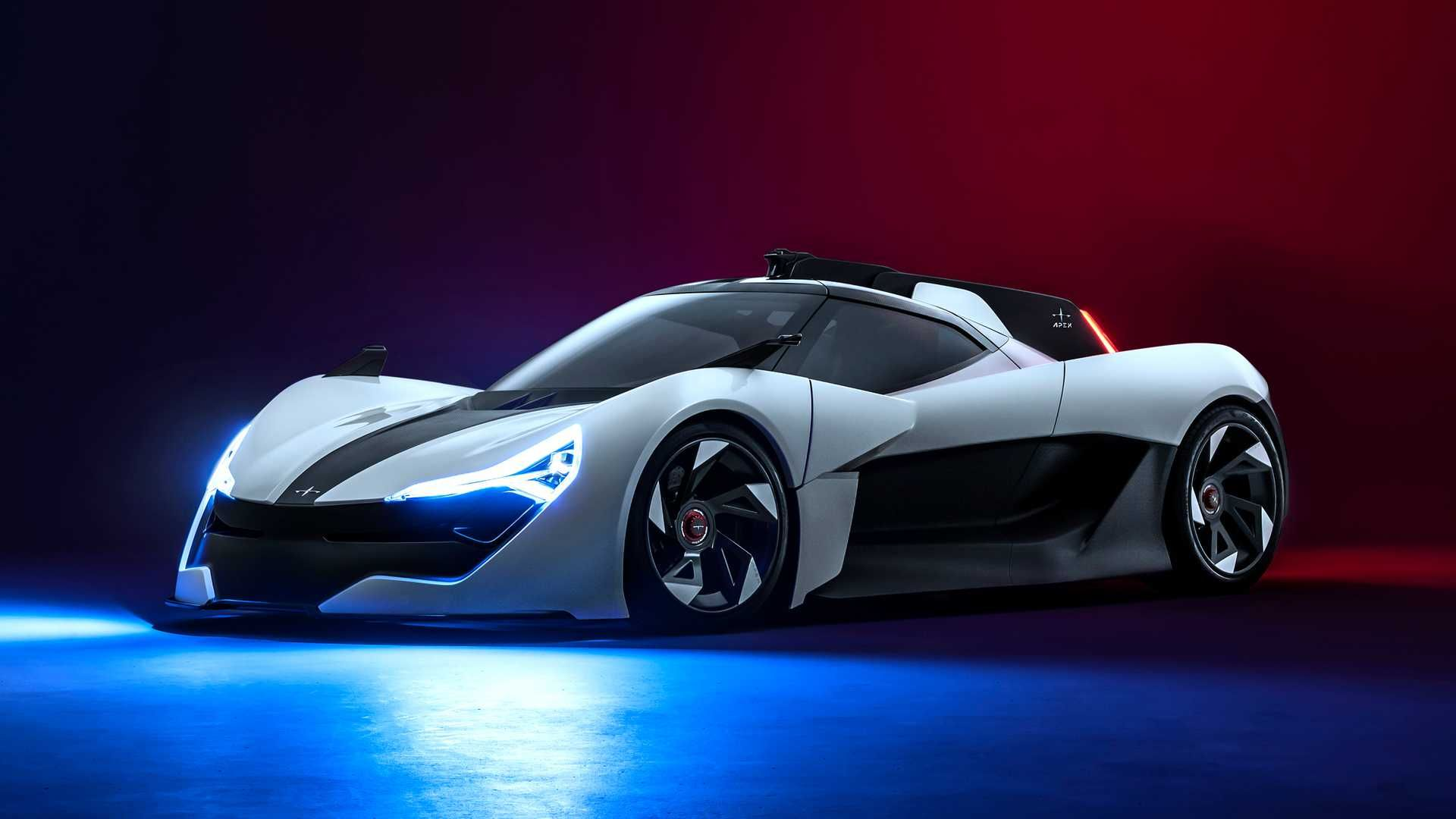 Apex Ap 0 Concept Debuts As 650 Hp Ev Supercar With Racing Dna In 2020 Electric Sports Car Sports Car Super Cars