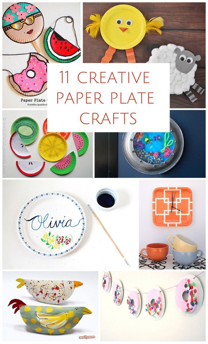 Fun and clever crafts for kids with just using paper plates!  sc 1 st  Pinterest & 11 CREATIVE PAPER PLATE CRAFTS | Clever Craft and Paper plate crafts