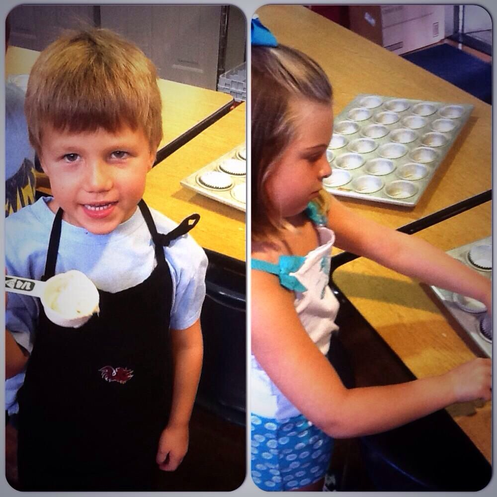 Group A hawkridge2014 made muffins this morning!
