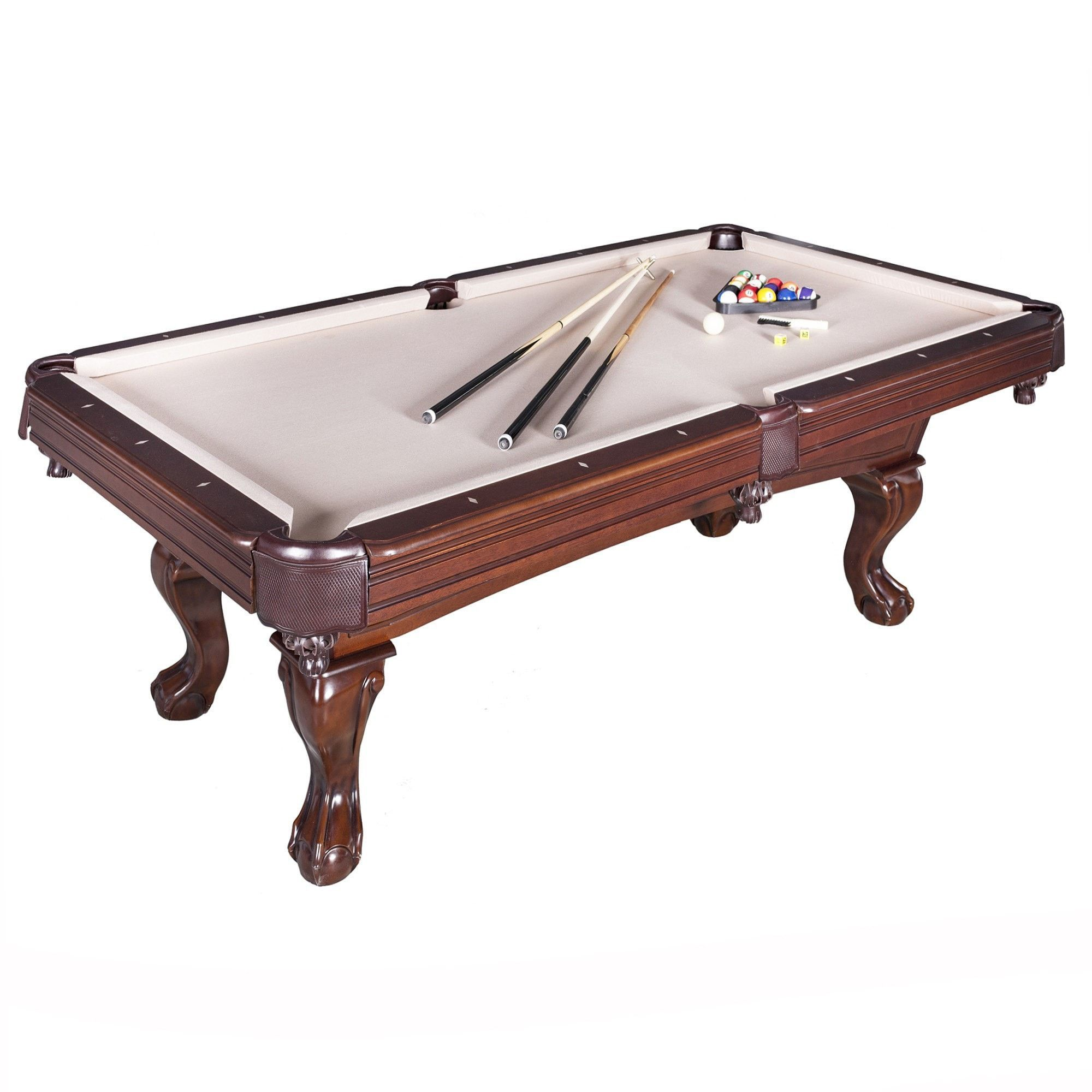 Hathaway Sports Augusta 8ft NonSlate Pool Table Walnut