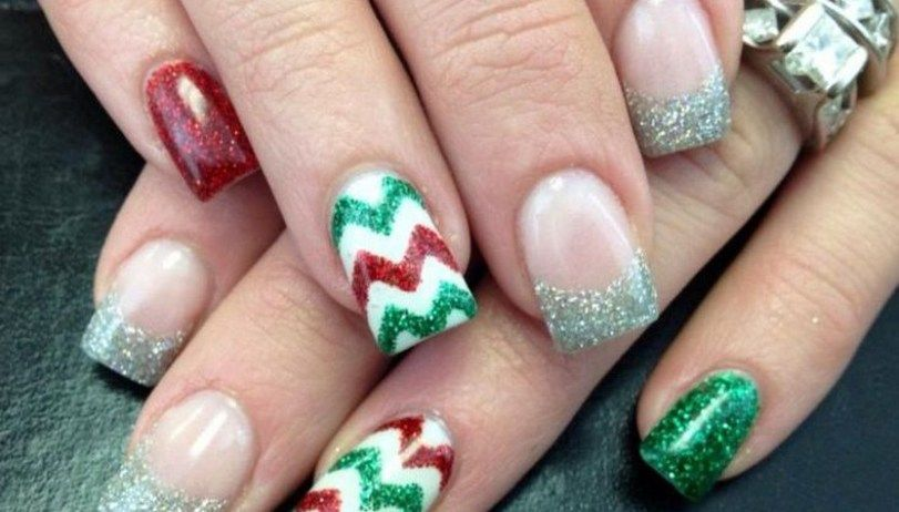 30 Festive Christmas Acrylic Nail Designs Pinterest Christmas