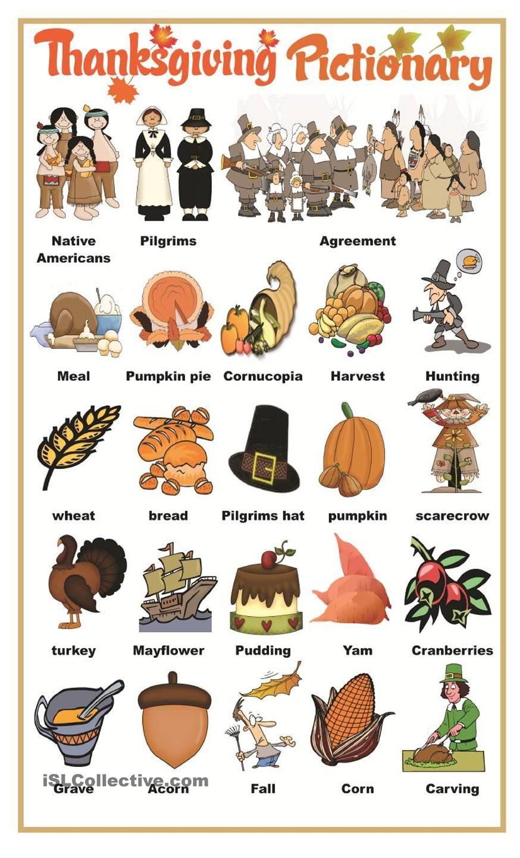 Thanksgiving pictionary | Thanksgiving Lessons | Pinterest ...