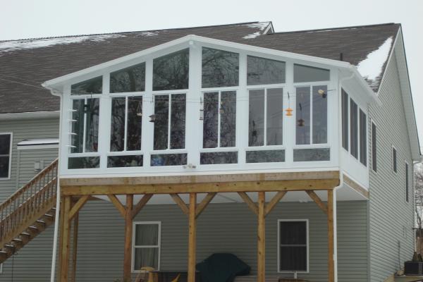 deck enclosure covered 2nd floor deck sunroom pinterest deck