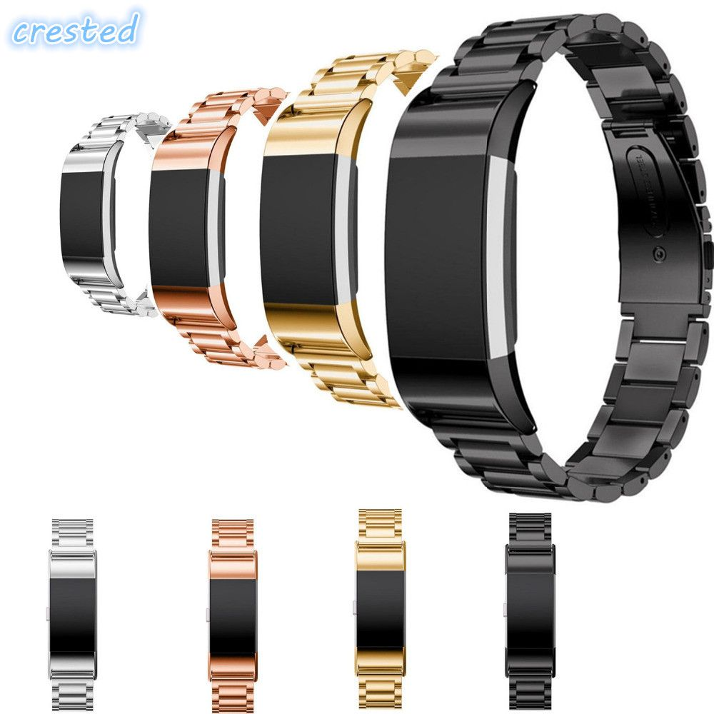 CRESTED Stainless Steel Watch band strap For Fitbit Charge 2
