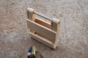 Folding- little stool for shower truck- normal stool (larger) all the way up to table size!