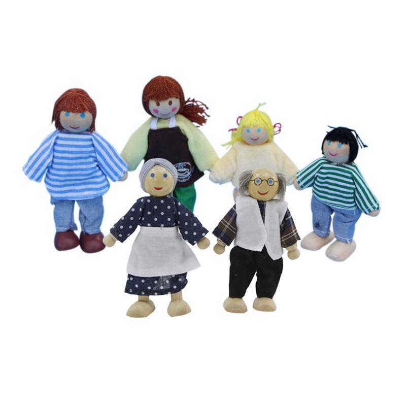 4 개 나무 인형 집 미니어처 아이 아이 play 장난감 나무 toys 아기 toys 선물 교육 장난감 아이
