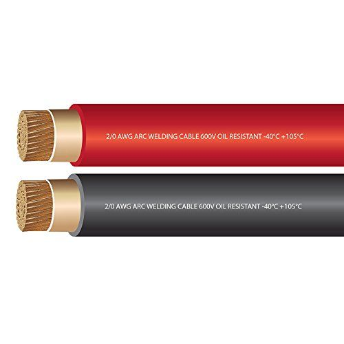 2 0 Awg Premium Extra Flexible Welding Cable 600 Volt Ewcs Branded Combo Pack Black Red Made In The Usa Welding Cable Welding Flexibility