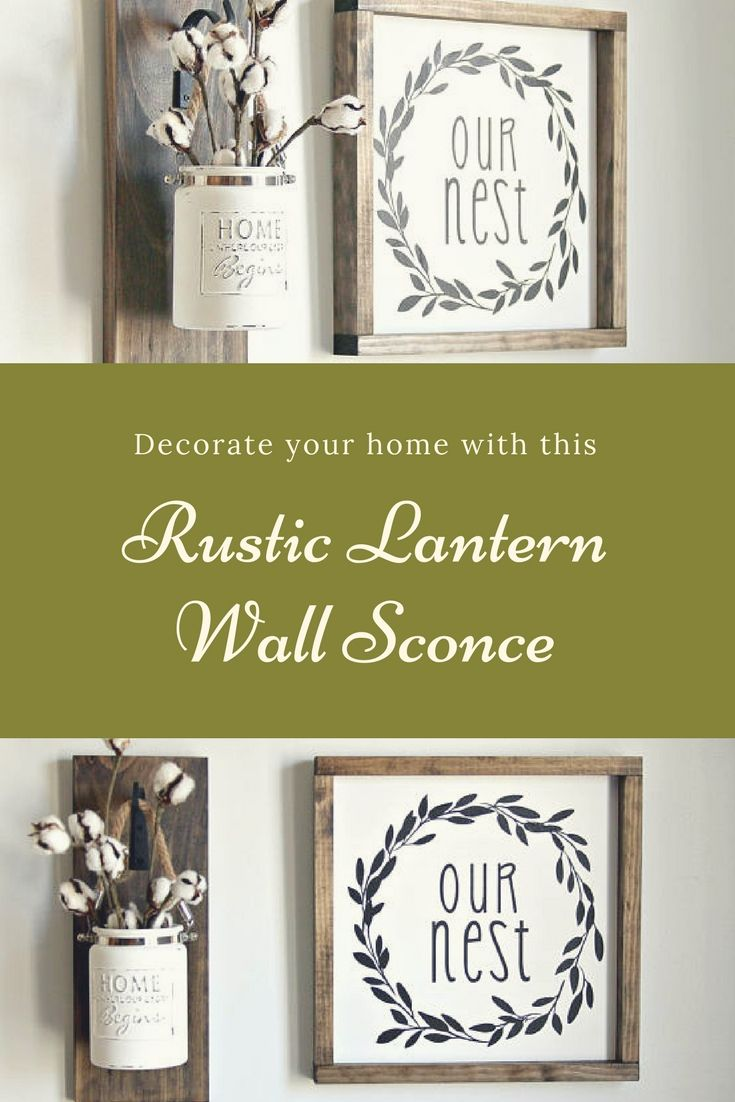 Decorate your home with this beautiful Rustic Lantern Wall Sconce ...