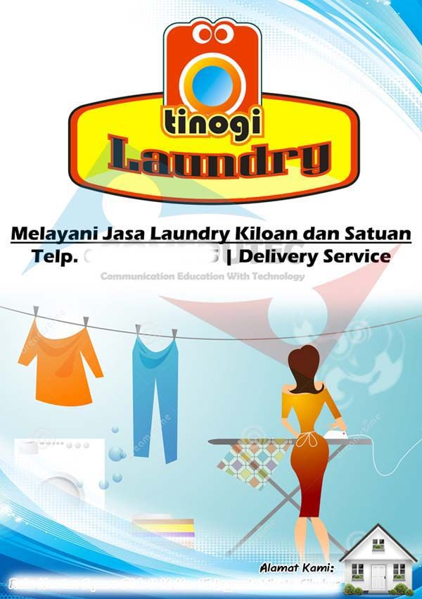 Portofolio Desain Logo 12 Tinogi Laundry Desain Brosur Desain