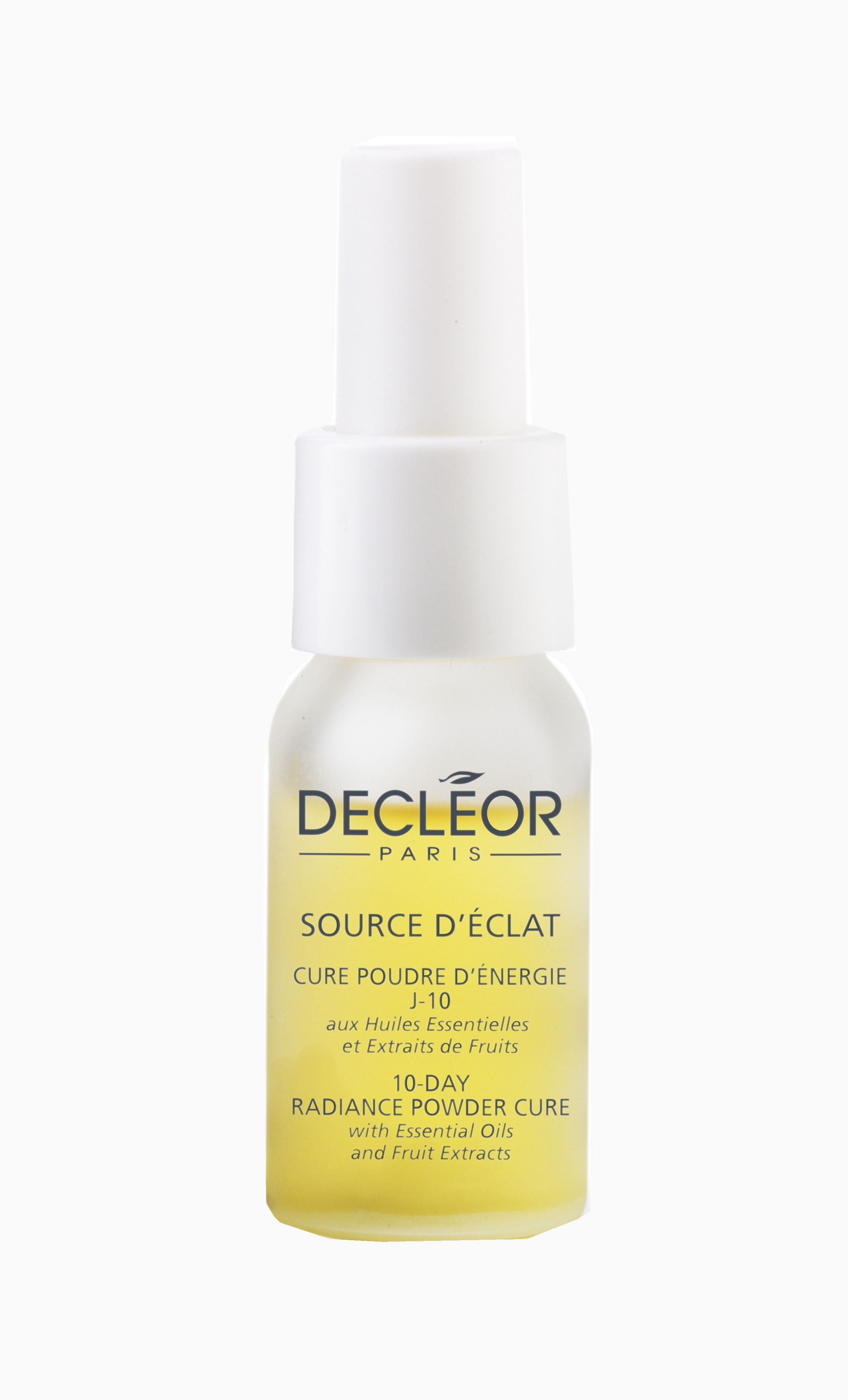 Decleor 10ml source declat 10 day power cure Decleor source declat 10 day power cure. This intensive facial treatment increases the radiance within your complexion in ten days. Reveals a smoother, more refined texture and increases skins vitalit http://www.comparestoreprices.co.uk/health-and-beauty/decleor-10ml-source-declat-10-day-power-cure.asp