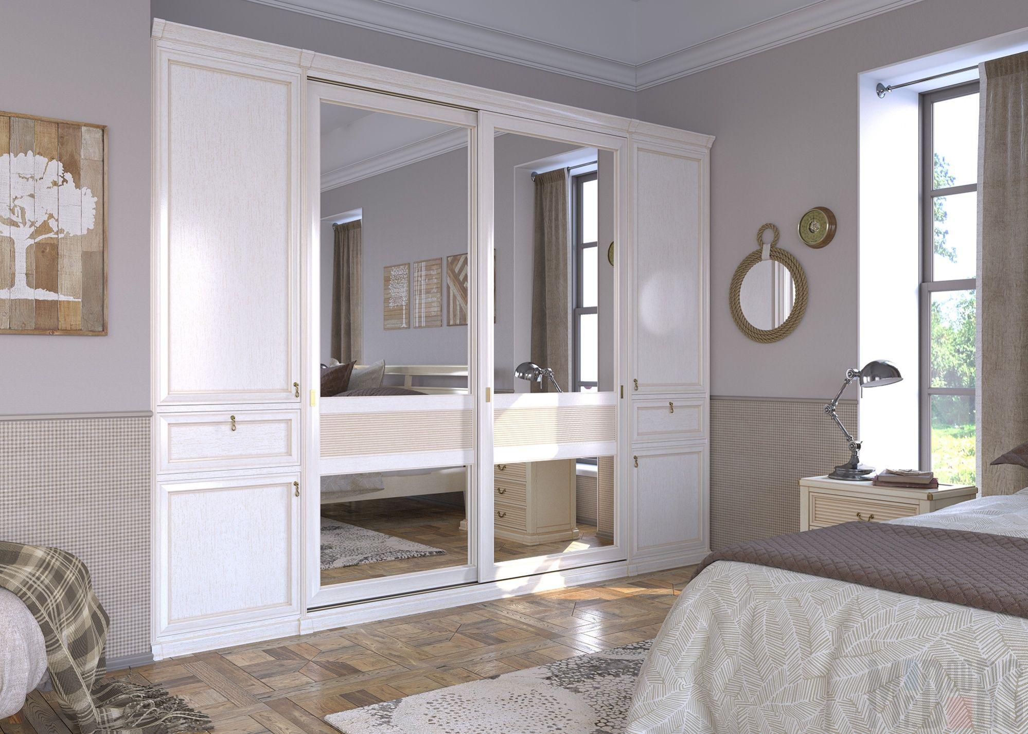 Bedroom interior design with almirah Классическая спальня для романтичных натур  Интерьеры mrdoors