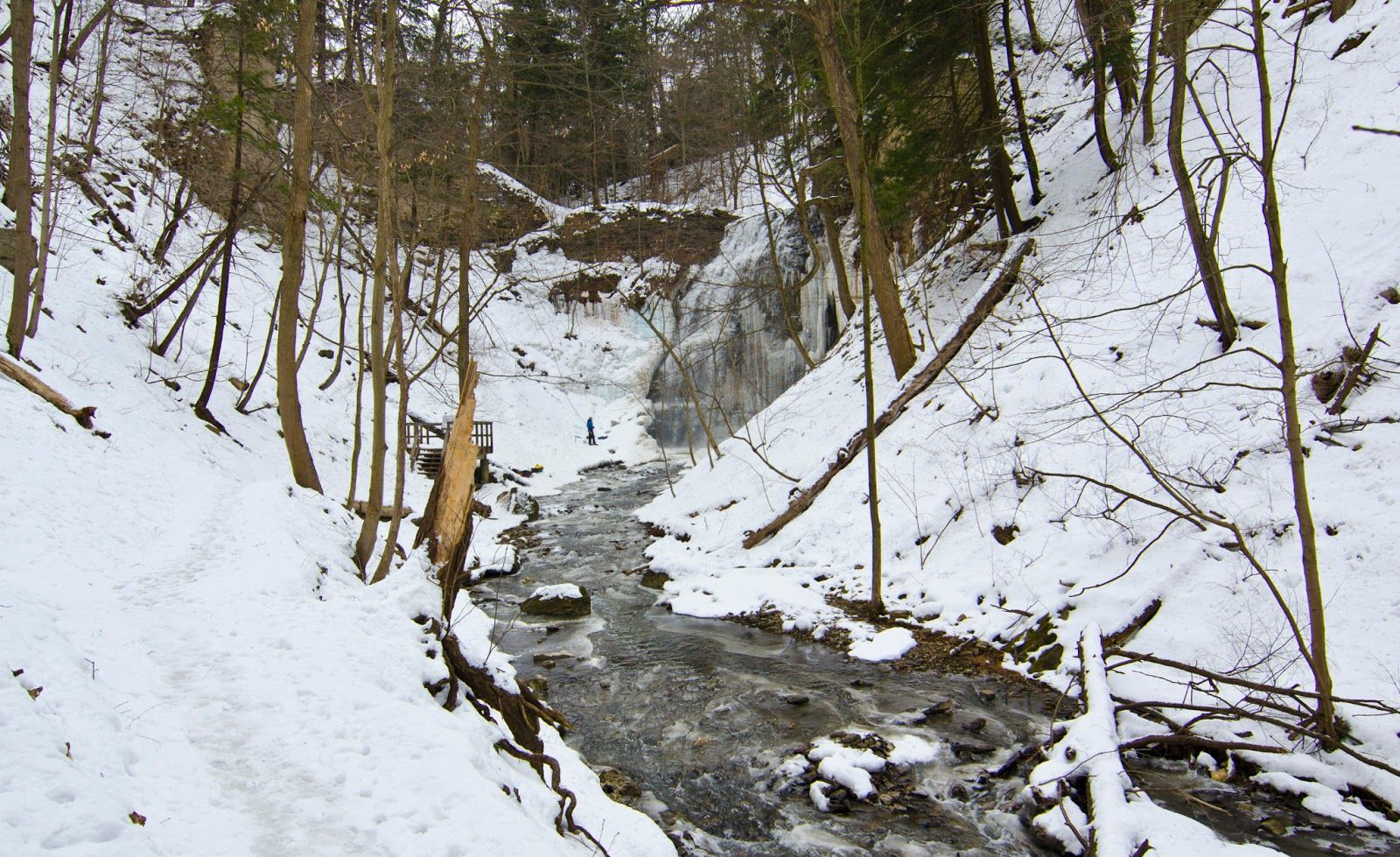 Tiffany Falls Late Winter - Hamilton Ontario