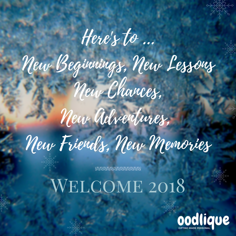Happy New Year 2018 Welcome 2018 New Year Greeting New Beginnings