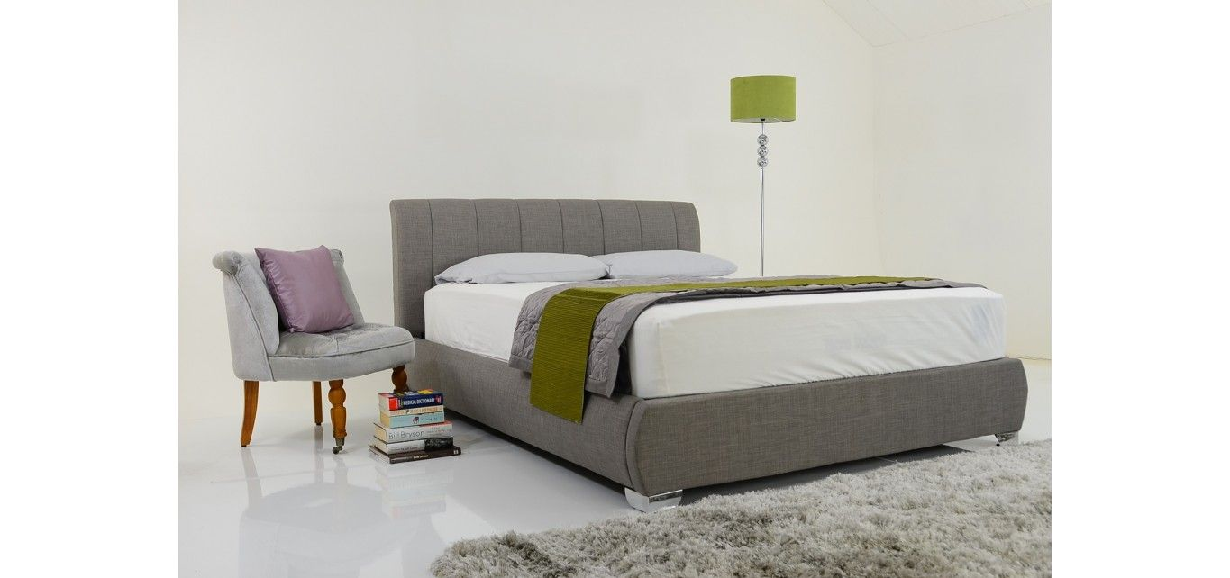 Buy Dawson Contemporary Fabric King Bed Grey by 40 Zees from our King Size  Beds range at Tesco direct. Dawson King Size Grey Fabric Contemporary Bed   Bedroom