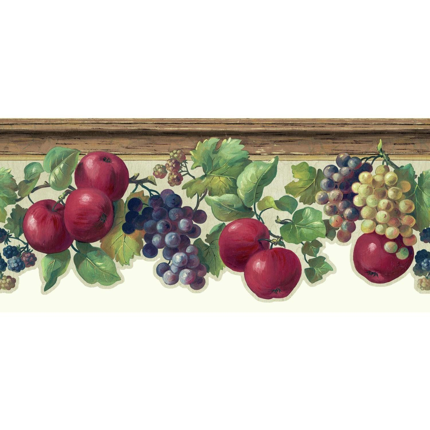 Kitchen And Bath 15 X 8 75 Quot Fruit And Ivy Smooth Border