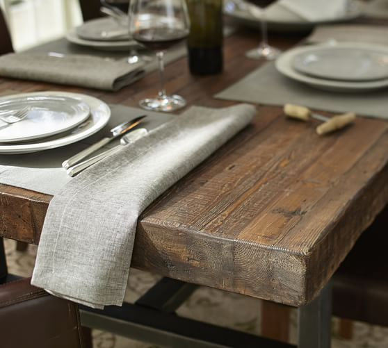 Griffin Reclaimed Wood Fixed Dining Table  Pottery Barn Awesome Dining Room Sets Pottery Barn Inspiration