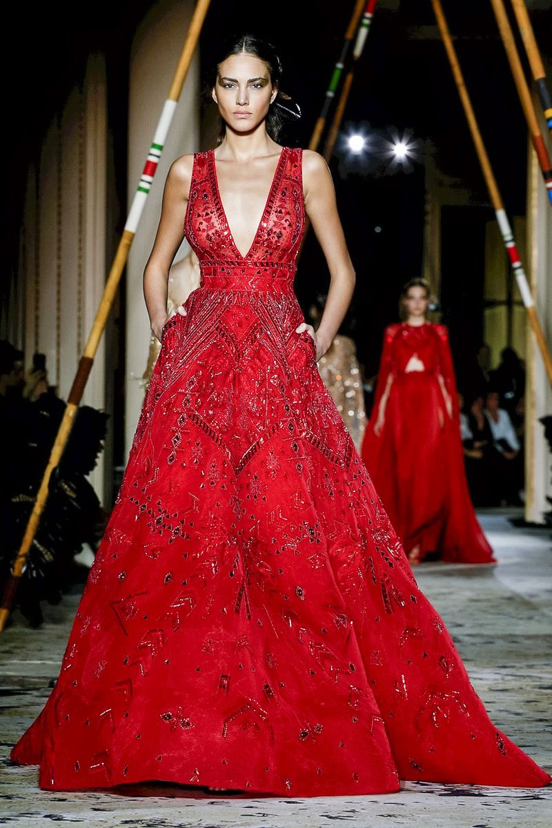 Zuhair murad fashion show couture collection spring summer in