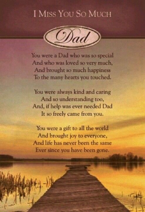 I Miss You So Much Dad.