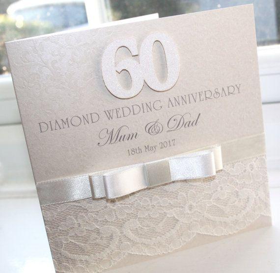 Diamond Wedding Anniversary Gifts For Grandparents: Personalised Handmade Diamond 60th Wedding Anniversary